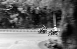 加速的自行车 库存照片