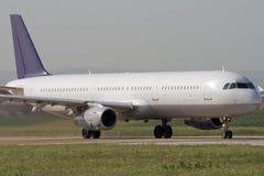 加速的飞机喷气机 免版税图库摄影