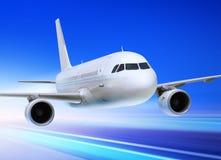 加速的飞机 免版税库存照片