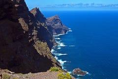 加那利群岛沿海远景 图库摄影