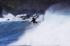 加那利群岛海浪 库存图片