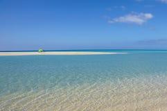 加那利群岛,西班牙Sotavento海滩在费埃特文图拉岛, 免版税库存照片