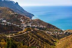 加那利群岛taganana tenerife村庄 免版税库存照片