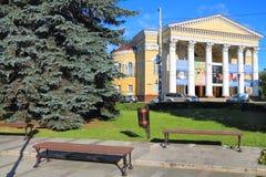 加里宁格勒地方戏曲剧院的看法从正方形的 免版税库存图片