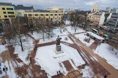 加里宁格勒都市风景在冬天 图库摄影