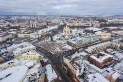 加里宁格勒都市风景在冬天 库存照片