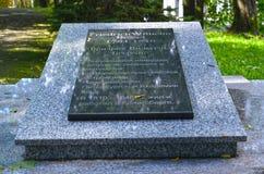 加里宁格勒,俄国 以纪念天文学家F的一块难忘的板材 W 贝赛尔1784-1846 俄国文本`卓著的德国astro 库存照片