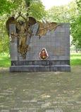 加里宁格勒,俄国 对原子事故的后果清算人的纪念碑  免版税库存图片