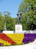 加里宁格勒,俄国 对诗人弗里德里希・席勒的纪念碑 俄国 图库摄影