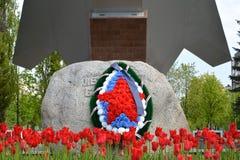 加里宁格勒,俄罗斯- 2015年5月09日:一个纪念碑片段 图库摄影