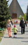 加里宁格勒,俄罗斯- 2015年5月09日:与退伍军人o的一次会谈 库存图片
