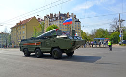 加里宁格勒,俄罗斯- 2015年5月09日:作战点导弹s 库存图片