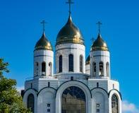 加里宁格勒,基督徒大教堂在胜利广场 免版税库存图片