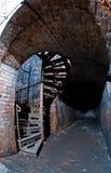 加里宁格勒,金属楼梯堡垒11 免版税库存照片