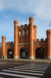 加里宁格勒 国王` s门, 19世纪 库存图片