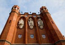 加里宁格勒 国王` s门, 19世纪 免版税库存照片