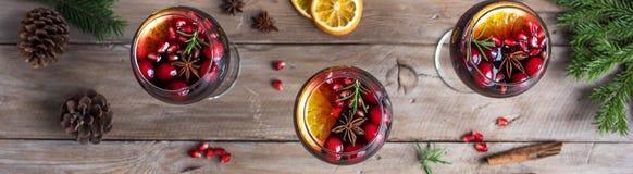 加香料的热葡萄酒或桑格里酒 库存图片