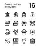 财务、事务、金钱象网的和流动设计组装3 免版税库存照片