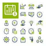 财务、银行业务和货币(第1)部分 库存图片