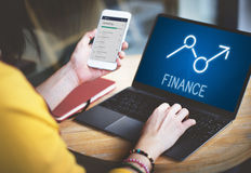 财务上升赢利机会经济企业概念 免版税库存图片