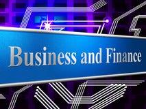 财务事务显示图投资和商务 库存图片