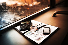财务分析的商业 库存图片