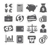 财务图标货币集 免版税库存图片