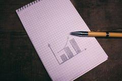 财务图表 库存照片