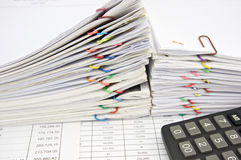 财务帐户的计算器地方 免版税图库摄影