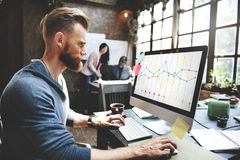 财务报告会计统计企业概念 免版税库存图片