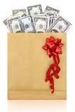 财务抽象背景钞票的美元 免版税库存图片