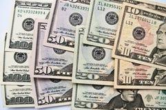 财务抽象背景钞票的美元 免版税图库摄影