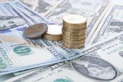 财务抽象背景钞票的美元 免版税库存照片