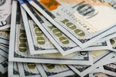 财务抽象背景钞票的美元 图库摄影