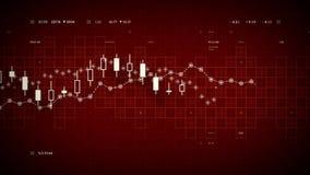 财务数据跟踪的红色 向量例证