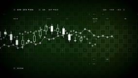 财务数据跟踪的绿色 向量例证