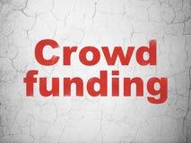 财务概念:在墙壁背景的人群资助 库存例证