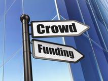 财务概念:标志在大厦的人群资助 皇族释放例证