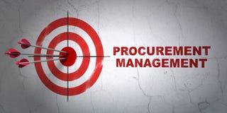财务概念:目标和获得管理 库存照片
