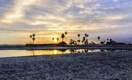 任务海湾,圣迭戈,加利福尼亚 库存照片