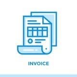 财务线性象发货票,开户 适用于流动app 免版税图库摄影