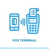 财务线性象POS终端,开户 适用于MOBIL 免版税库存图片