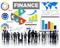 财务长条图图投资货币业务概念 免版税库存图片