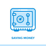 财务,银行业务线性象挽救金钱  适用于MOBIL 图库摄影