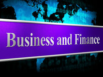 财务Business Shows Investment Company和财政 免版税图库摄影