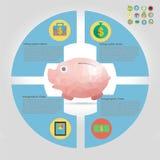 财务infographic元素 免版税库存图片