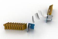 移动一个文件夹的文件到另一个 库存照片