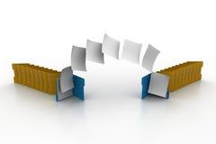 移动一个文件夹的文件到另一个 图库摄影