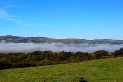 滚动下来幽谷的薄雾 免版税库存照片