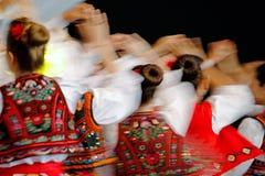 移动与惊人的舞蹈和舞蹈家的抽象迷离 免版税图库摄影